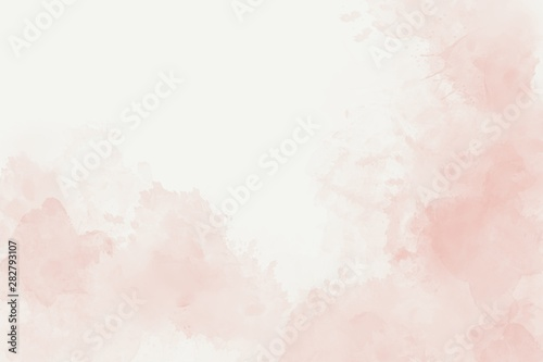 Fotografiet  Watercolor soft pink abstract background