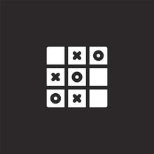 Tic Tac Toe Icon. Filled Tic T...