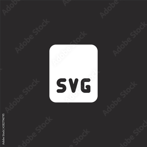 Svg File Icon Filled Svg File Icon For Website Design And Mobile App Development Svg File Icon From Filled Image Files Collection Isolated On Black Background Buy This Stock Vector And