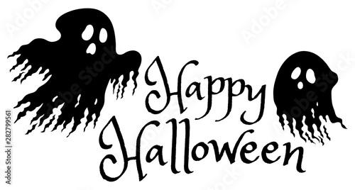 Spoed Foto op Canvas Voor kinderen Happy Halloween sign concept image 1