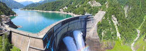 【富山県 日本の観光名所】日本最大級の黒部ダム Wallpaper Mural