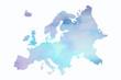 canvas print picture - Mapa Europy w wersji artystycznej na białym tle