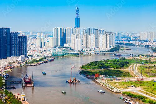 Fotografía  Ho Chi Minh aerial view