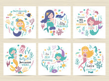 Set Of Posters With Mermaid, S...
