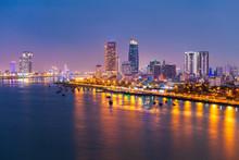 Danang City Skyline Aerial View
