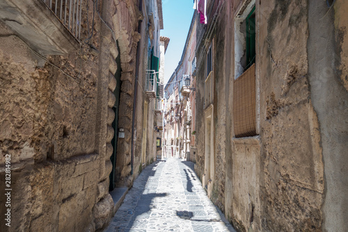 Narrow streets of Tropea in Italy