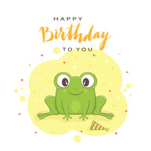 Text Happy Birthday And Green ...