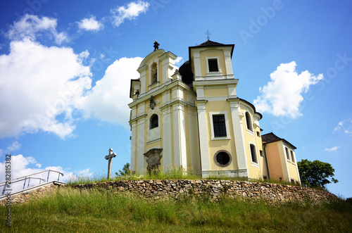 Pilgrimage church on Makova hora near Smolotely village, Czech Republic