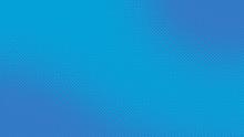 Blue Retro Comic Pop Art Background With Halftone Dots Design, Vector Illustration Template