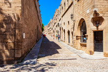 Street Of Rhodes Knights, Greece