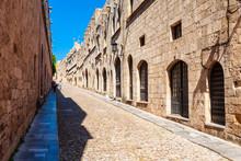 Street Of Rhodes Knights, Greece