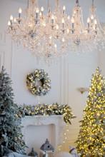 Royal Room With Christmas Tree...