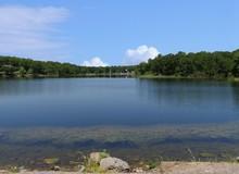 Wide Shot Of A Lake At Chickas...