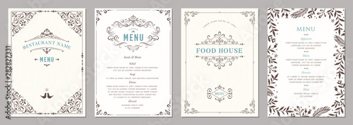Fototapeta Wedding and restaurant menu.  obraz