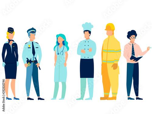 Obraz na plátně People of different professions
