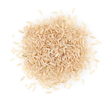 Heap Of Brown Rice Isolated On...