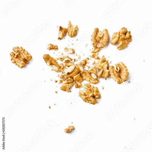 Fotografía  Peeled walnut isolated on white background