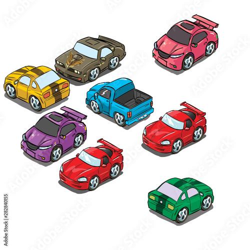 Fotobehang Cars set of cars