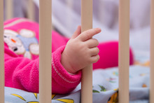 Hand Baby Holding The Cradle,t...