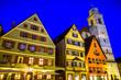 Leinwandbild Motiv old town of dinkelsbuhl - germany