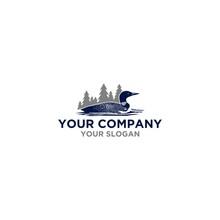 Common Loon Logo Design Vector