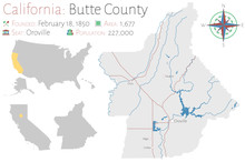 Large And Detailed Map Of Butt...