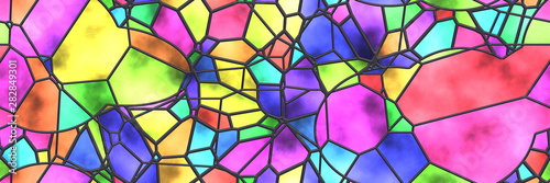 Fotografía Stained glass- abstract mosaic architecture