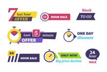 Sale Countdown Days Left Badge...