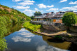 canvas print picture - Fluss Nahe Bad Kreuznach, Deutschland
