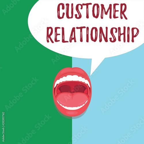 Photo Conceptual hand writing showing Customer Relationship