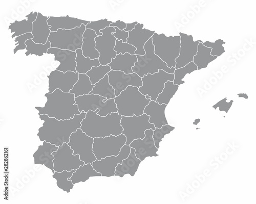 Fototapeta Spain regions map