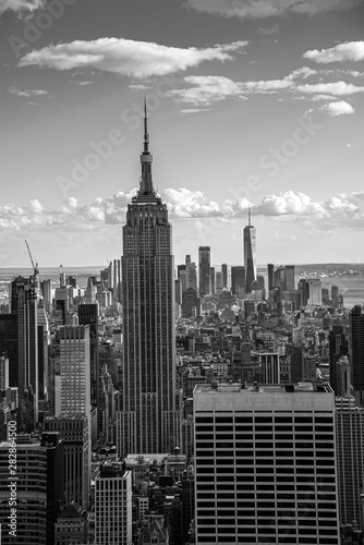 Looking South from the top of Manhattans midtown (NYC, USA) Canvas Print