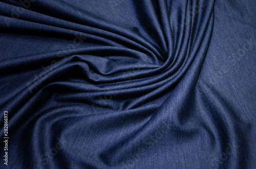 Fotomural  The texture of cashmere with silk is dark blue