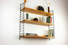 Wooden Book Shelf Hanging On T...
