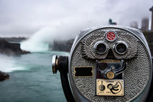 Binoculars Pointing At Niagara...