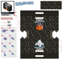 Package Template Halloween Smo...