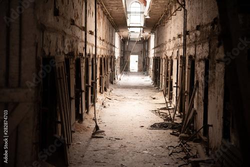 Photo  Prison corridor in disrepair