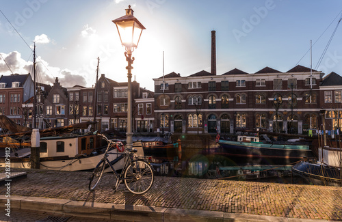 Foto op Plexiglas Rotterdam Old historic district Delfshaven in Rotterdam Netherlands