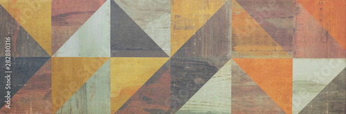abstract seamless mosaic pattern, ceramic tile for interior Canvas