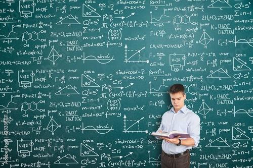 Albert einstein algebra background blackboard board business calculations Wallpaper Mural