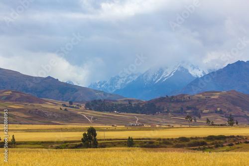 Fotografie, Obraz  Landscape in the Sacred Valley of the Incas, Cusco, Peru.