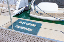 "Motor Yacht With Mat ""Welcome ..."