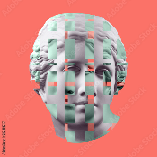 Fotografía Modern conceptual art poster with ancient statue of bust of Venus