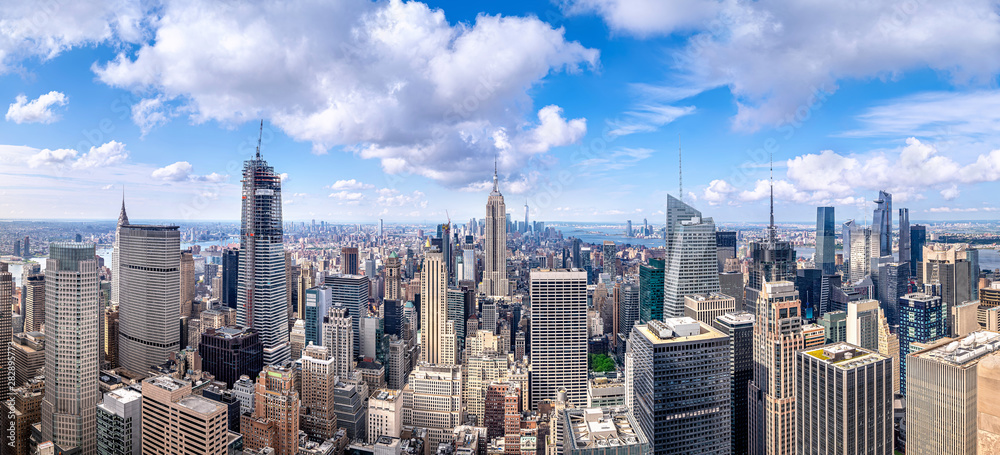 Fototapety, obrazy: panoramic view at the skyline of new york