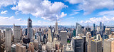 Fototapeta New York - panoramic view at the skyline of new york