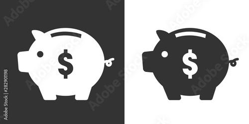 豚の貯金箱 アイコン Wallpaper Mural