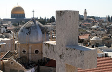 View From The Roof Of The Austrian Hospice In East Jerusalem Towards The Dome Of The Rock On Friday 23 March 2012
