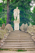 Hercules Statue Azalea And Rhododendron Park In Kromlau