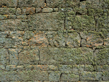 Lichen Encrusted Stone Wall