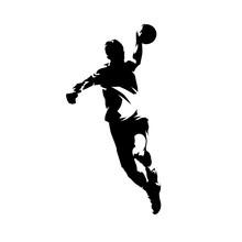 Handball Player Throwing Ball ...
